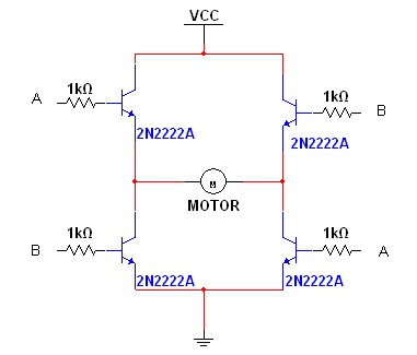 Building a dc motor driver turnell 39 s electronics n for Dc motor h bridge